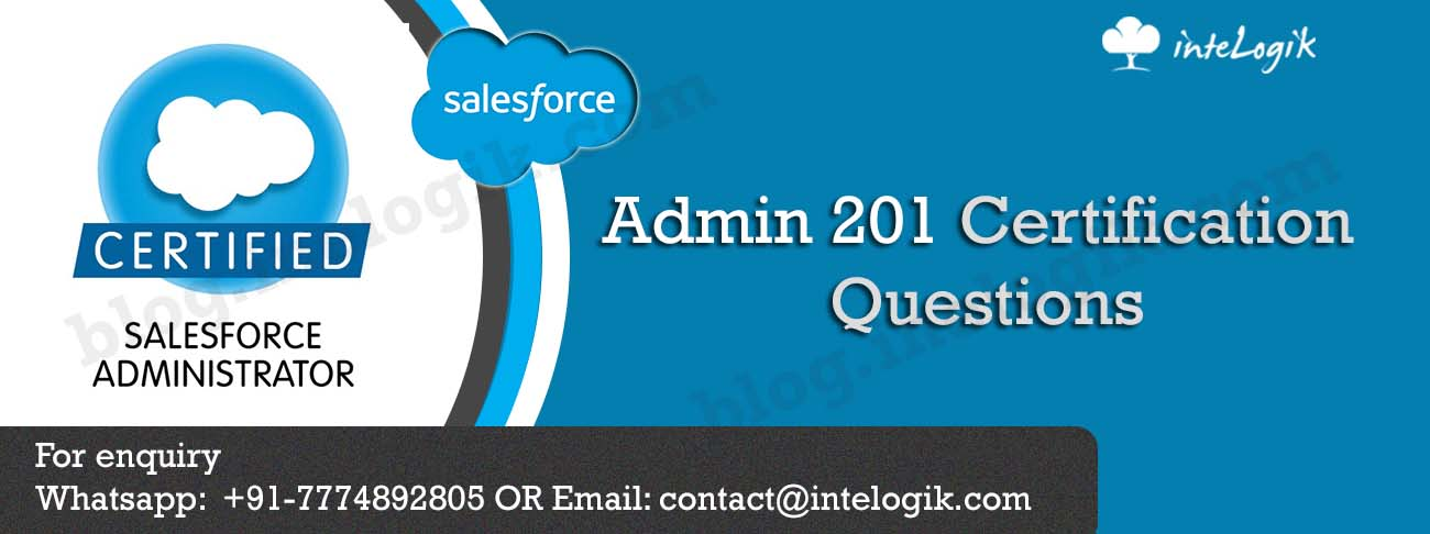 Salesforce Admin 201 Certification Questions Intelogik Blogs